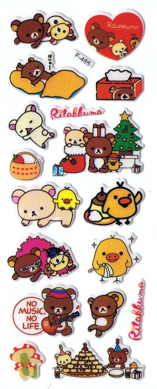 Jual SK356 Stiker Sticker Timbul Set Strip Aneka Gambar Kartun Rilakkuma Kab Sidoarjo Pusat Mainan Edukasi