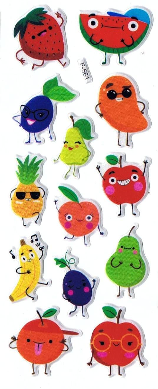 Jual SK498 Stiker Sticker Timbul Set Strip Aneka Gambar Kartun Buah Fruit Kab Sidoarjo Pusat Mainan Edukasi