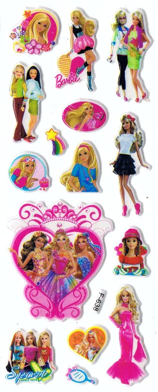 Jual SK480 Stiker Sticker Timbul Set Strip Aneka Gambar Kartun Barbie Kab Sidoarjo Pusat Mainan Edukasi
