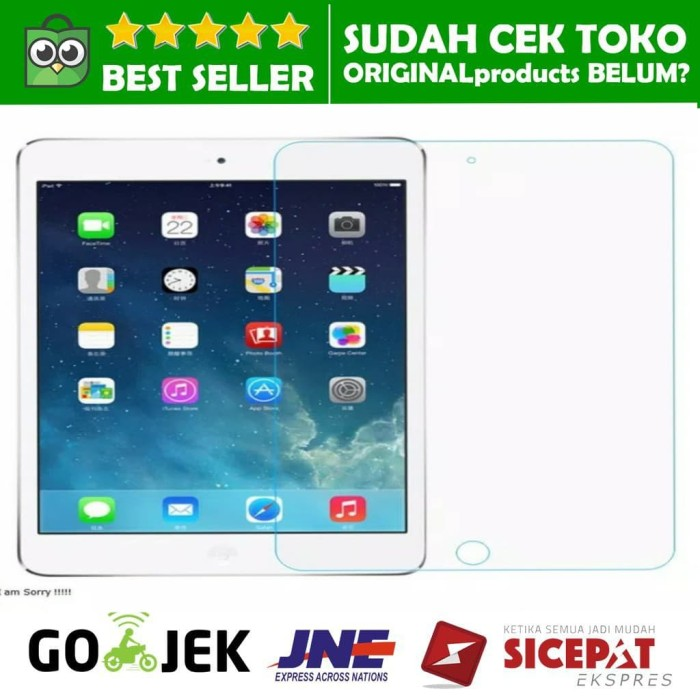 harga Ipad mini 1 2 3 4 tempered glass anti gores kaca tg screen protector Tokopedia.com