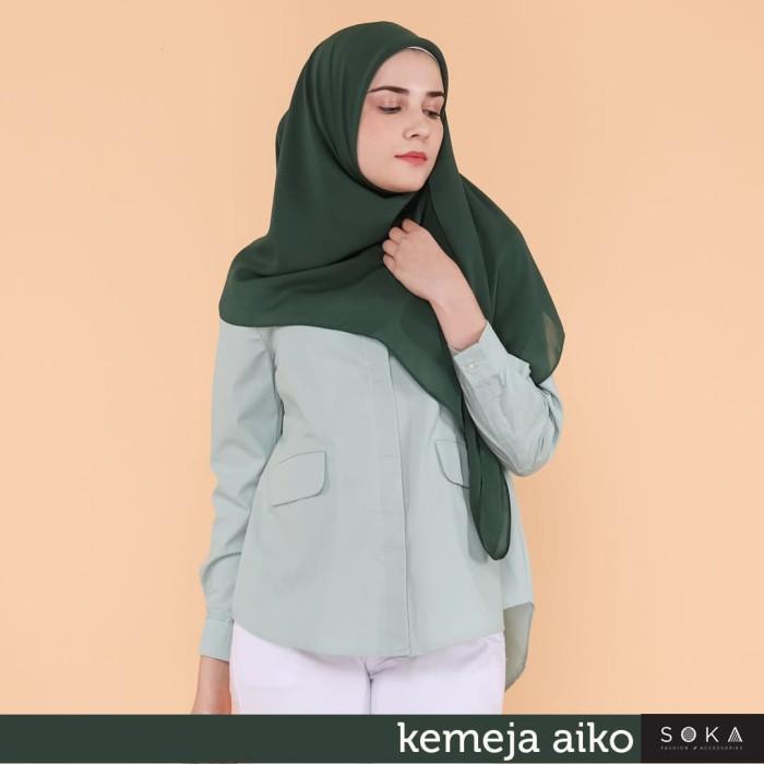 Foto Produk Kemeja Aiko - Hijau Mint dari SOKAcraft