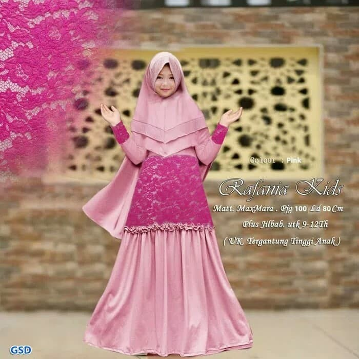 Jual Dress Pesta Kebaya Anak Baju Muslim Syari Gamis Anak Perempuan Kota Bandung Cahaya Tokopedia