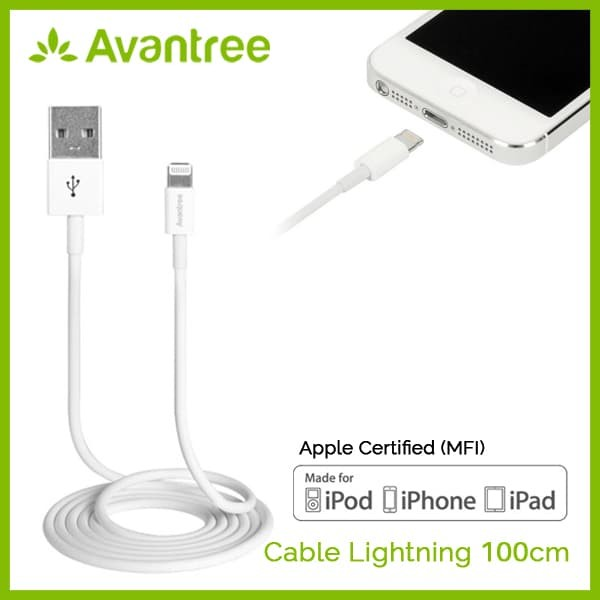 Avantree cable lightning mfi to usb 100cm - swan