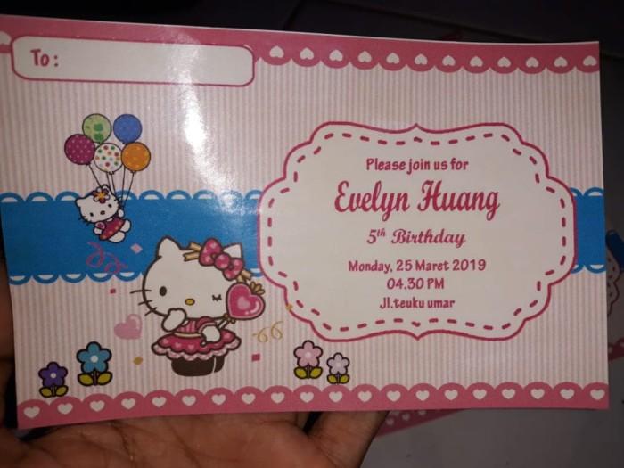 Jual Undangan Sticker Ultah Hello Kitty Kab Kudus Kayla Tas Souvenir Tokopedia