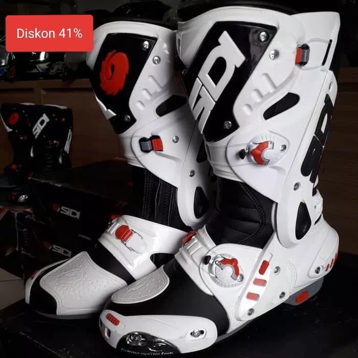 harga Sepatu sidi stivali vortace black white sepatu touring sepatu balap Tokopedia.com