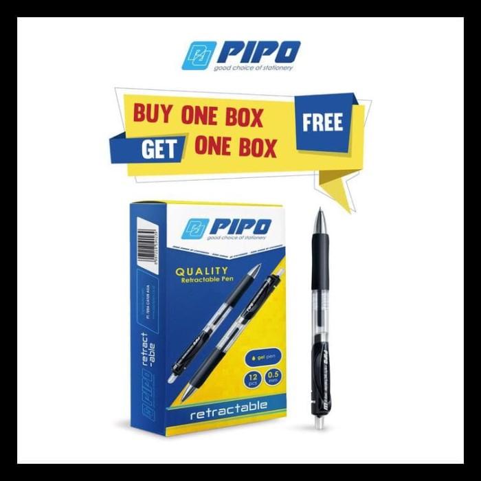 Jual LIMITED EDITION (Buy1 Get1) Pulpen Merk PIPO PPG2 RETRACTABLE -  cinta-store   Tokopedia