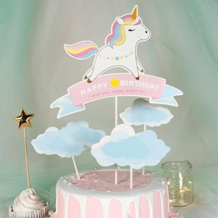 Jual Topper Kue Cake Topper Hiasan Kue Tart Baby Unicorn Little Pony Ultah Kota Depok Kooci Art Tokopedia