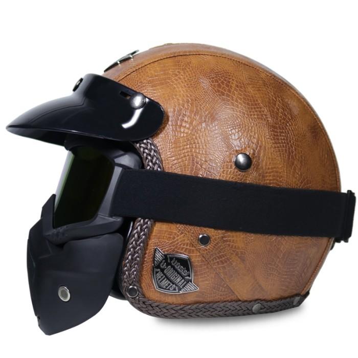 Motorcycle Helmets For Sale >> Jual Hot Sale Open Face Half Pu Leather Helmet Moto Motorcycle Helmets Dki Jakarta Vip Shoess Tokopedia