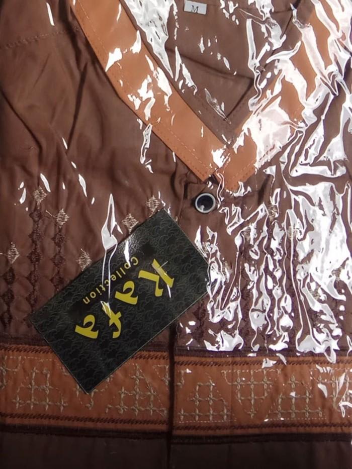 Baju Koko Bordir Lengan Panjang
