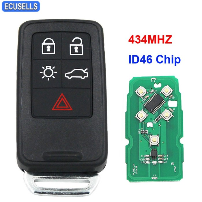 Smart Car Key Replacement >> Jual New Replacement 5 Button Remote Key Smart Car Key Fob Kydz 434mhz Kota Surabaya Pandawa Mart Tokopedia