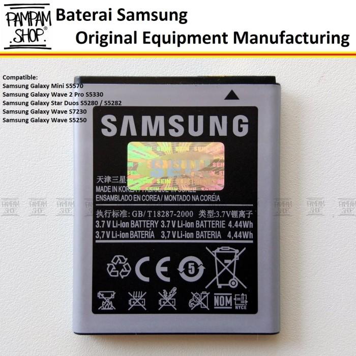 harga Baterai handphone samsung galaxy y neo duos s5312 original | battery Tokopedia.com