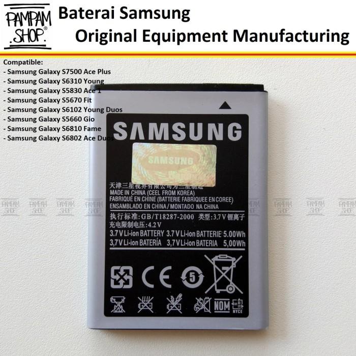 harga Baterai handphone samsung galaxy s6102 y young duos original   battery Tokopedia.com