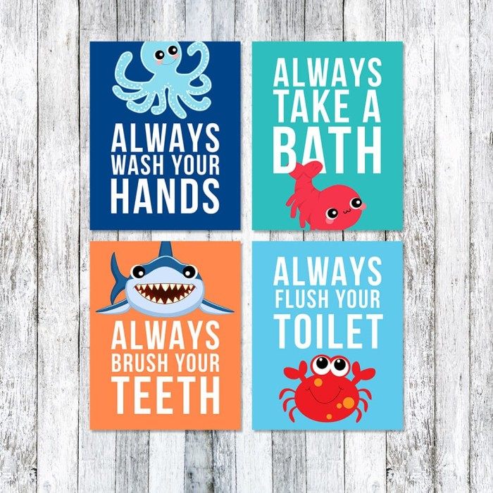 Jual Seaworld Toilet Rules Set / Toilet Sign / Bathroom Rules / Poster WC -  Kota Pontianak - NF Printable Design   Tokopedia