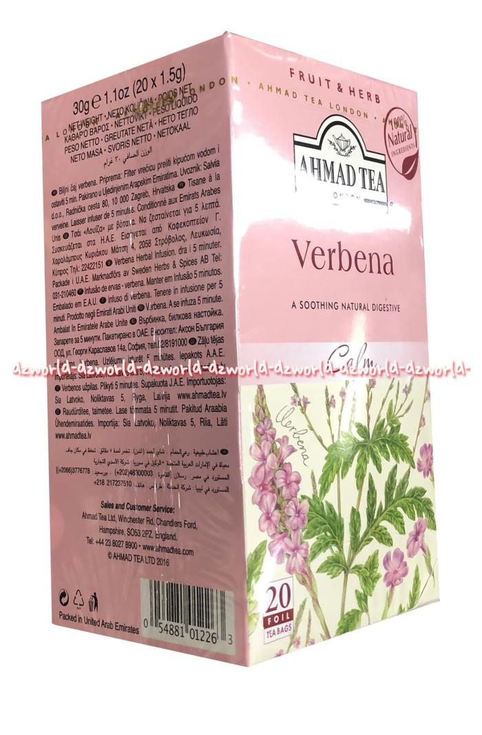 Jual Ahmad Tea Verbena Calm 20 Tea Bag Teh Ahmad Verbena - Jakarta Barat -  DZ-world | Tokopedia