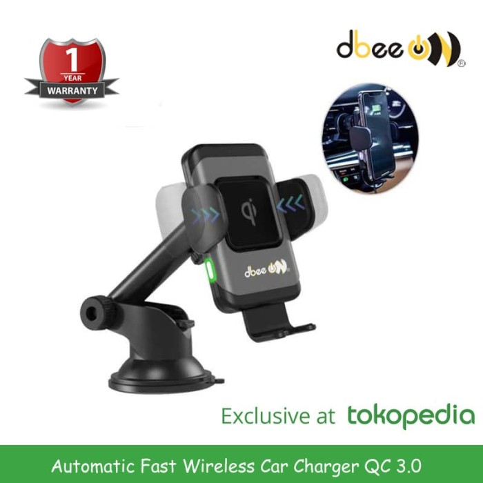 Foto Produk D-bee Automatic Fast Wireless Car Charger dari MKA Official Store