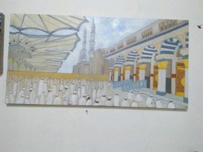 Jual Lukisan Masjid Nabawi Madinah B12lu249 Jakarta Barat