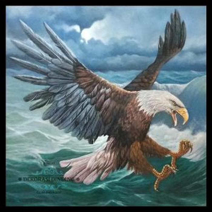 Jual Lukisan Burung Elang Jumbo Ekslusif Dan Elegan B12lu883