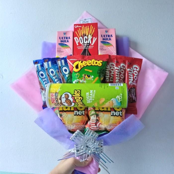 Jual Snack Bouquet Bucket Buket Snack Makanan Hadiah Kado