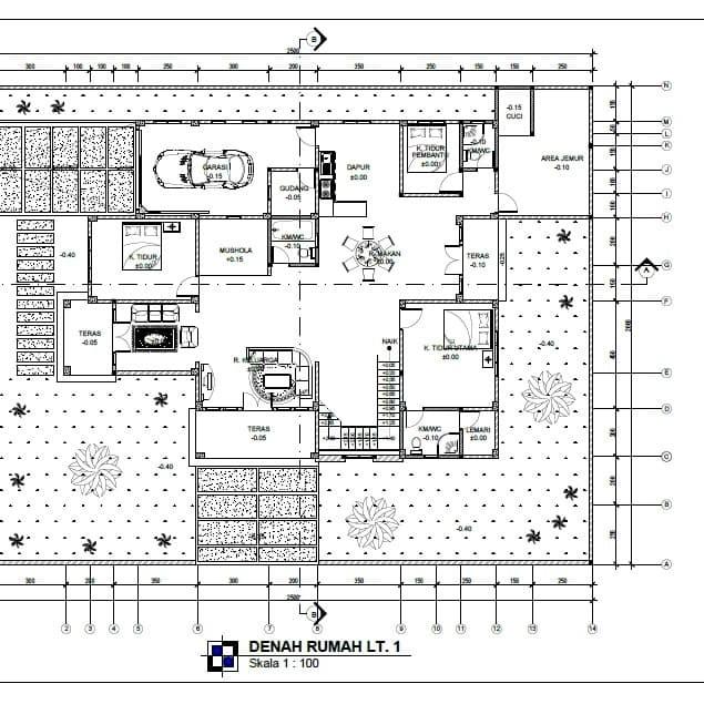 Jual Gambar Kerja Rumah 2 Lantai Type 475 Kab Bantul Griyadesign Tokopedia