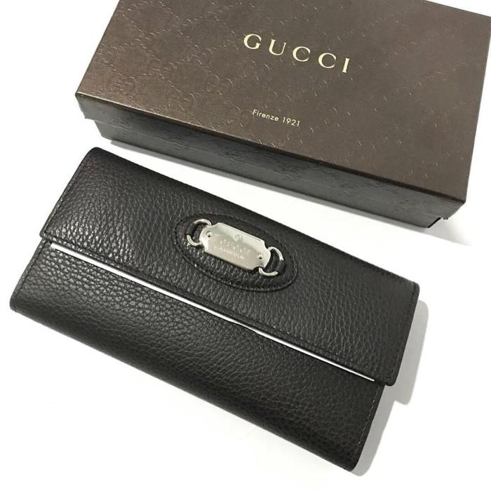 Foto Produk Gucci Wallet Calf Dollar Dark Brown Wallet. Dompet Gucci Original dari Laristie
