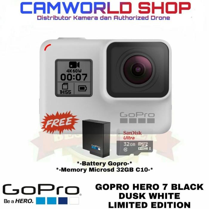 3405b0a7eb Jual GOPRO HERO 7 BLACK - DUSK WHITE LIMITED EDITION - PAKETAN BONUS -  Jakarta Pusat - Camworld Shop   Tokopedia