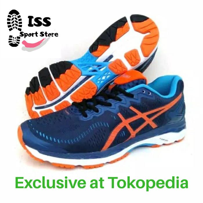 on sale eef97 11bc9 Jual Sepatu Lari Pria - Asics Gel Kayano 23 Original Shoes - Navy, 46 - DKI  Jakarta - Iwan Sepatu Sport | Tokopedia
