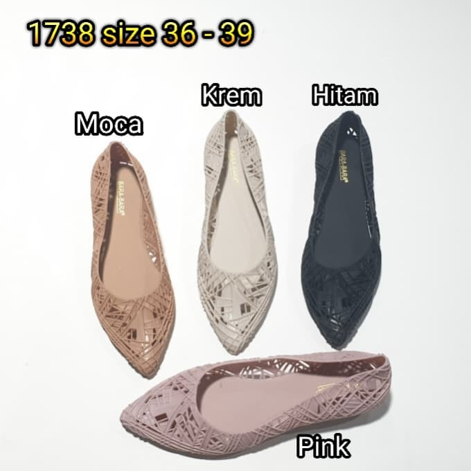 harga Jelly shoes bara bara lancip flat shoes karet import 1738 Tokopedia.com