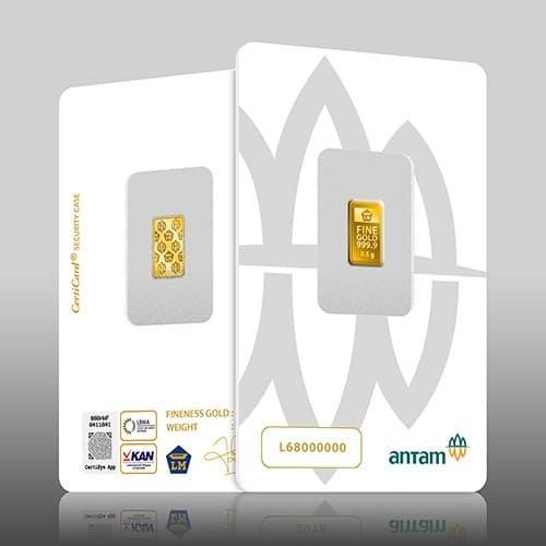 Foto Produk Logam Mulia ANTAM 0,5 Gram Emas Murni bersertifikat dari ALBALAD MOSLEM STORE