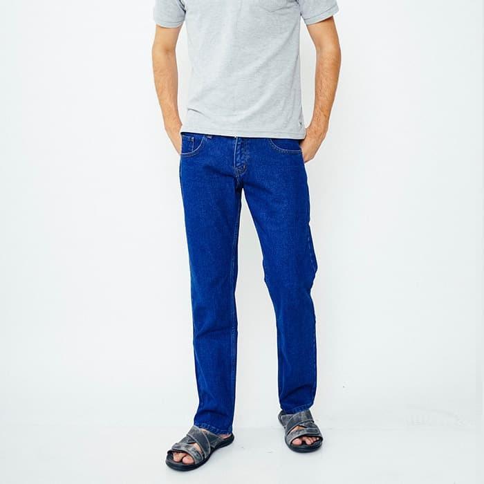 Edwin celana jeans pria biru tua (508-leo-02) - biru 32