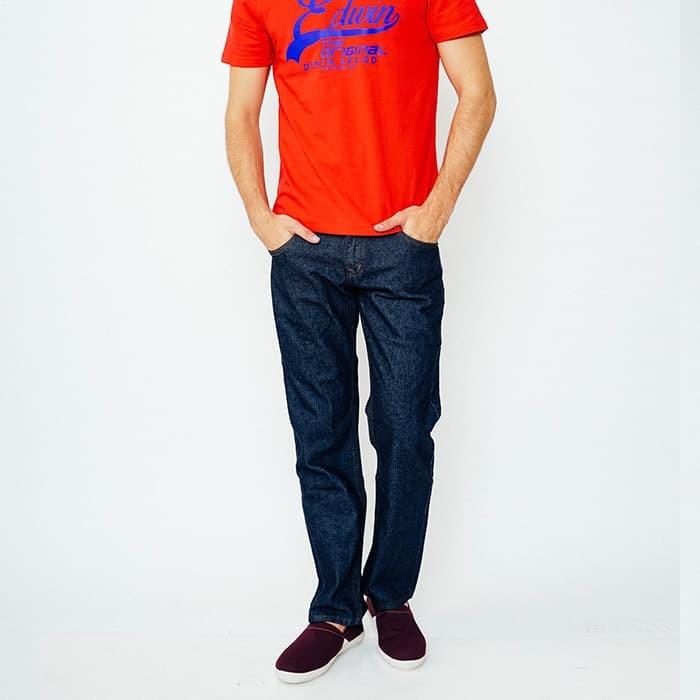 Edwin celana jeans pria biru garment (506-leo-01) - biru 30