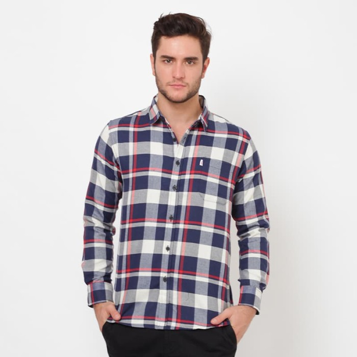 Edwin jeans flannels john biru - biru s