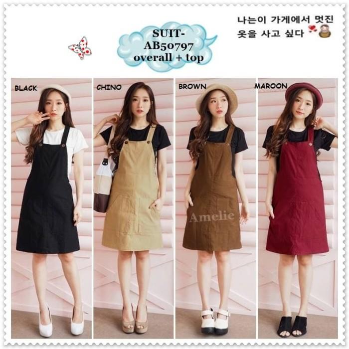 b90d237521 Jual Setelan Baju Kodok Mini Dress Jumpsuit Overall Korea Import ...