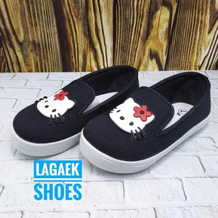 harga Sepatu anak usia 3 4 tahun hello kitty hitam/sepatu hk anak hitam sckh Tokopedia.com