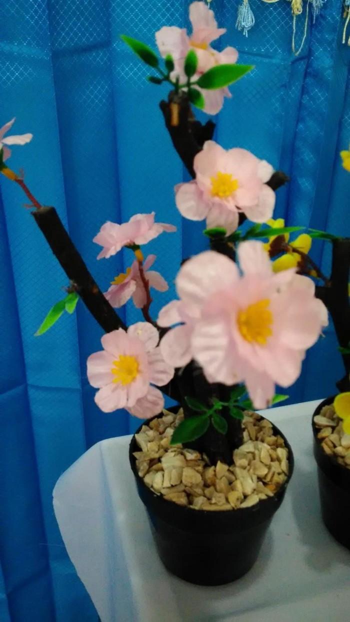Jual Bunga Sakura Pot Kecil Replika Tanaman Hias Tiruan Plastik Untuk Meja Kab Jombang Juragan Grosir Tokopedia