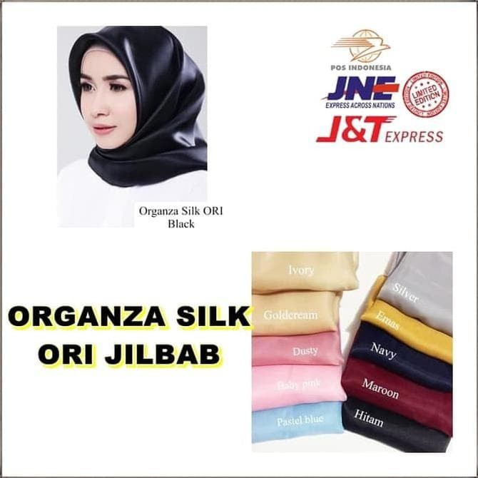 Foto Produk New Organza Silk Ori Jilbab Instan Hijab Instan Pakaian Wanita dari illiyinpermatasari store
