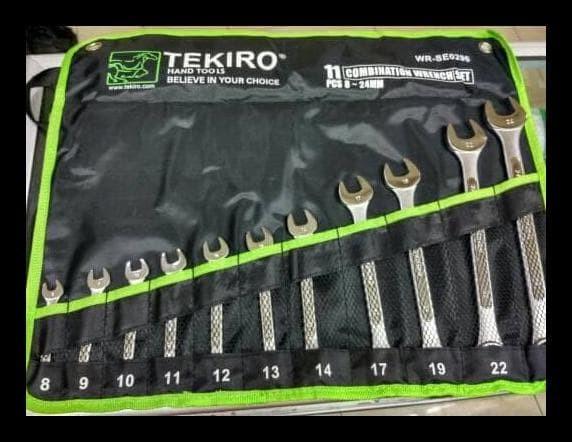 Tekiro Kunci Ring Pas 8-24 Mm 11 Pcs / Kunci Ring Pas Set Tekiro