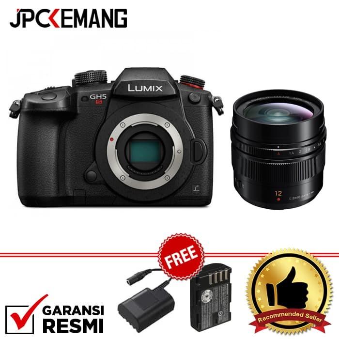 harga Panasonic lumix dc-gh5s body + panasonic leica 12mm f/1.4 garansi resm Tokopedia.com