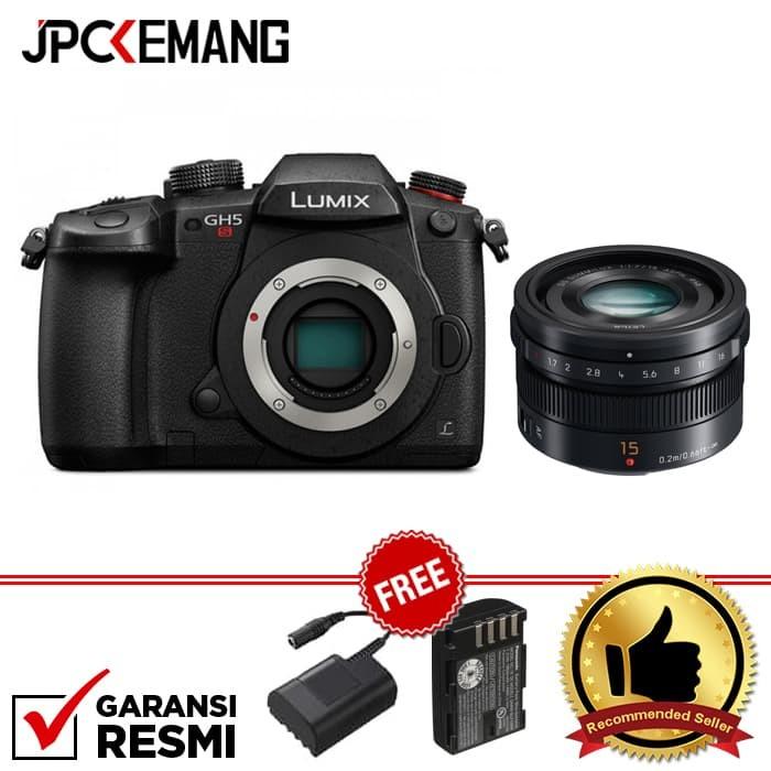 harga Panasonic lumix dc-gh5s body + panasonic leica 15mm f/1.7 garansi resm Tokopedia.com