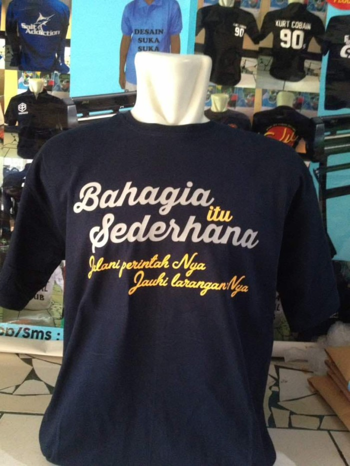 jual kaos tshirt baju quotes bahagia jakarta timur ba alawi