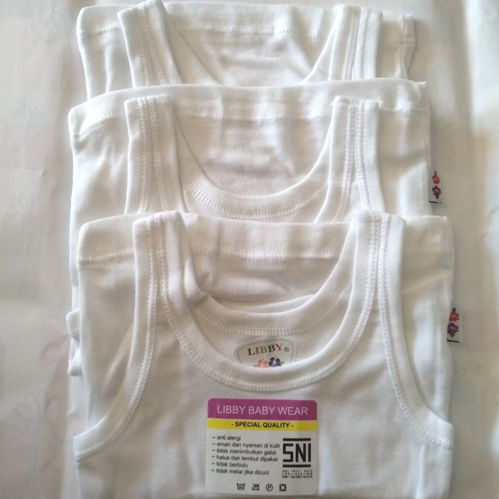 harga Kaos dalam bayi new born libby 3 pcs / singlet bayi / kaos kutang bayi Tokopedia.com