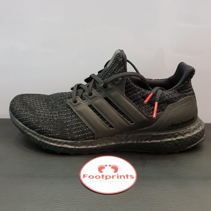 d6046a04125fc Jual Adidas Ultra Boost 4.0 Triple Black Nubuck Cage 100% Original ...