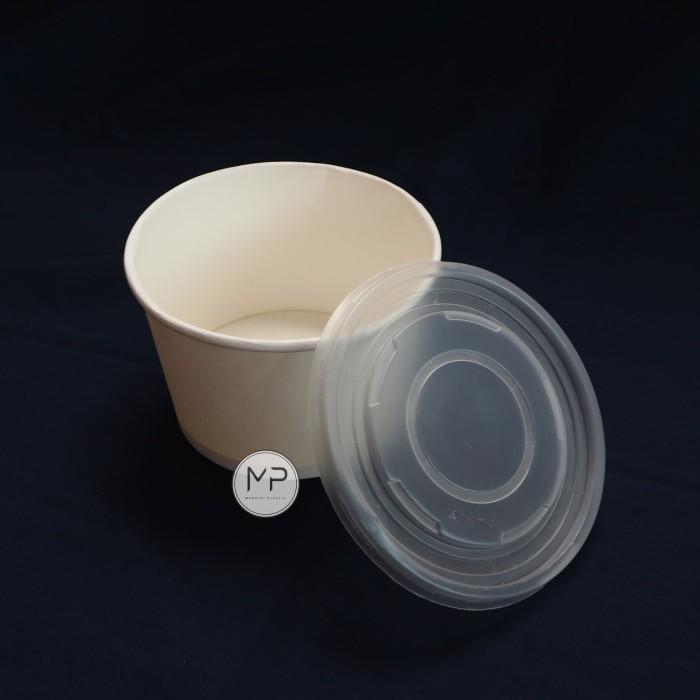 Foto Produk Paper Bowl 800ml (27oz) / Mangkok Kertas 800ml DENGAN TUTUP - per25pcs dari Mandiri Plastik