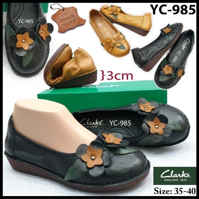 5714092c Jual Sepatu Wanita / Sepatu Kerja Clarks Mini Wedges YC-985 - , - DKI  Jakarta - VnS Shop | Tokopedia