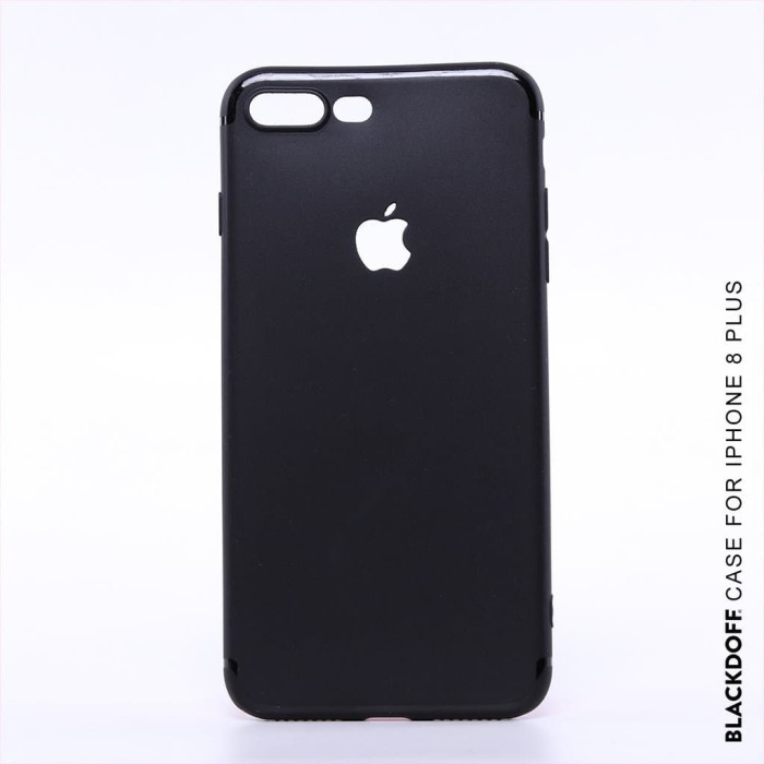 Foto Produk FOR IPHONE 8 PLUS - ORIGINAL BLACKDOFF SLIM CASE SOFTCASE SILICON - Hitam dari LauraStore