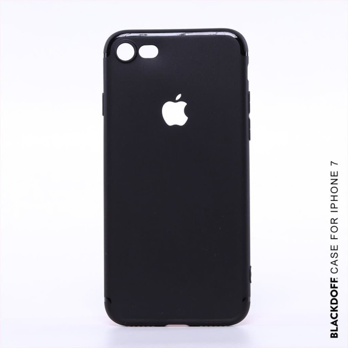 Foto Produk FOR IPHONE 7 - ORIGINAL BLACKDOFF SLIM CASE SOFTCASE SILICON - Hitam dari LauraStore