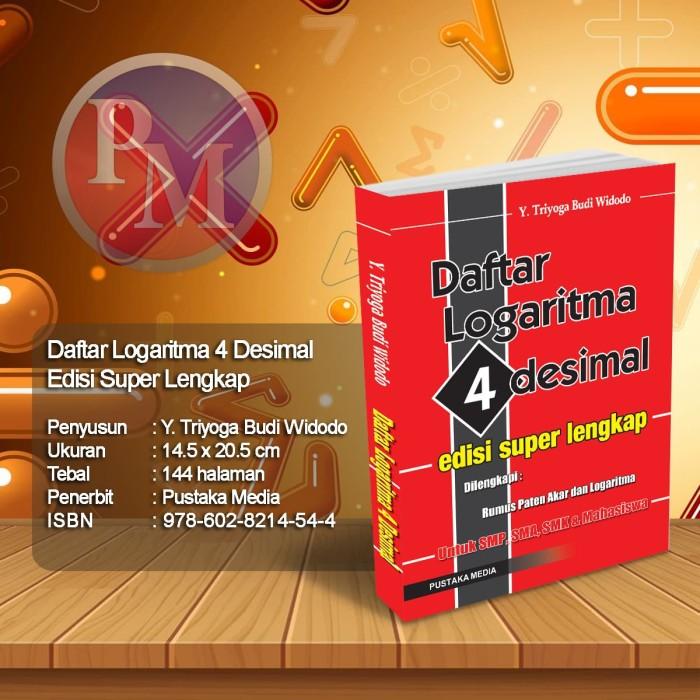 Foto Produk Daftar Logaritma 4 Desimal dari Pustaka Media Surabaya