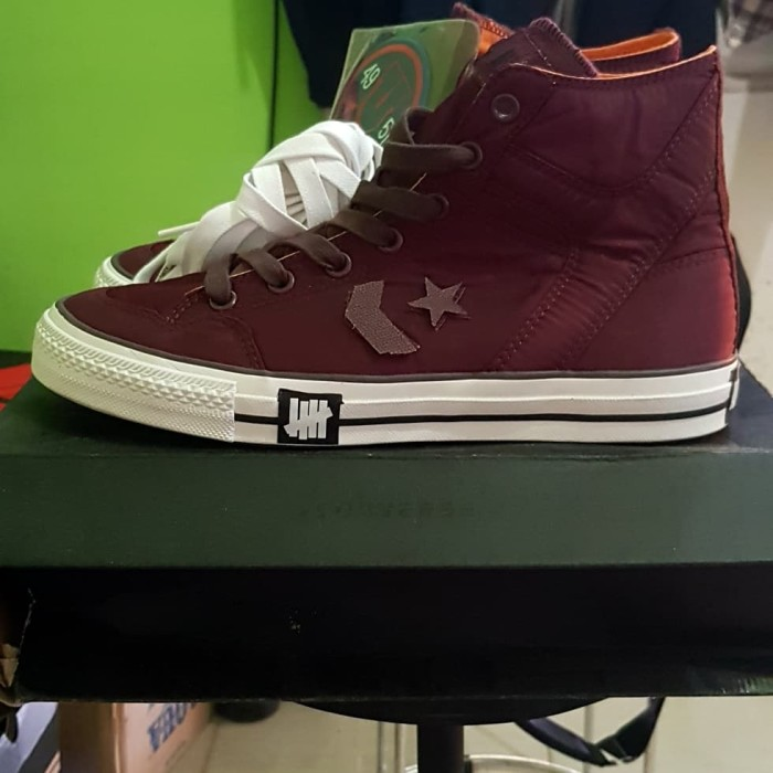 170881051382 Jual Converse x undefeated poorman weapon hi red burgundy tawny ...