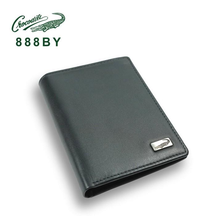888by dompet pria men wallet leather kulit crocodile original - hitam