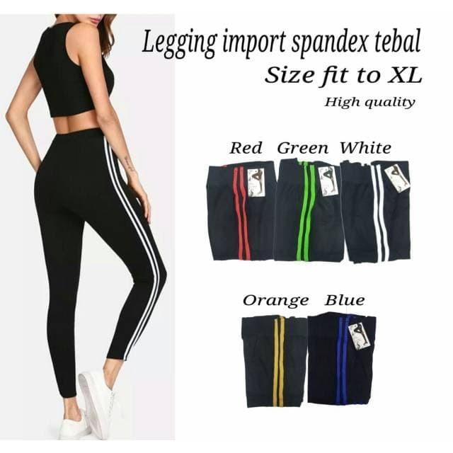 Jual Celana Legging Wanita Legging Import Bahan Spandex Tebal Putih Kota Tangerang Selatan Unikdanmurah Tokopedia