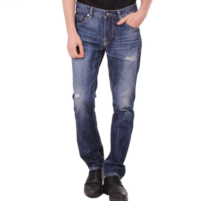 Number 61 official - bawahan pria belen ripped jeans